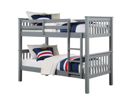 Novaro Grey Wooden Bunk Bed