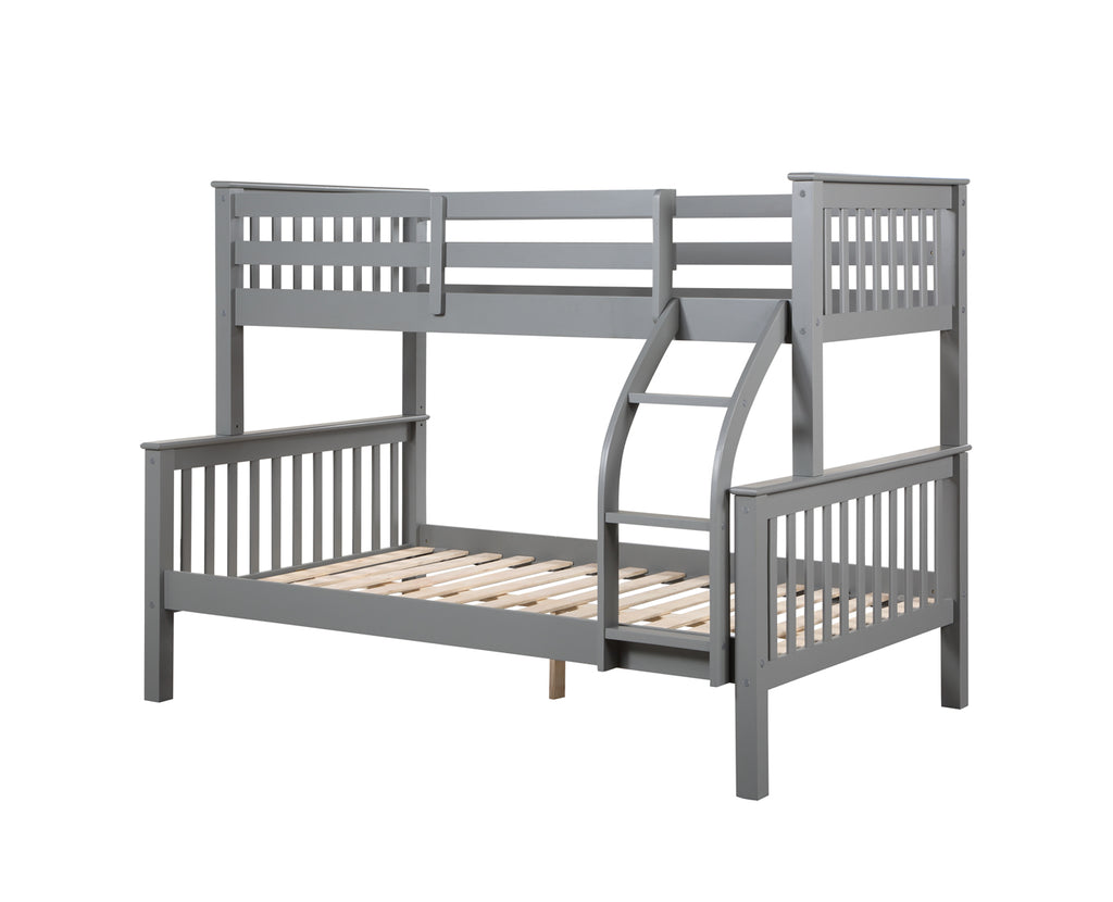 Novaro Grey Wooden Triple Bunk Bed
