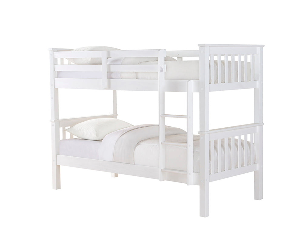 Novaro White Wooden Bunk Bed