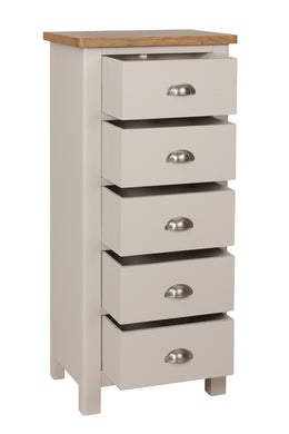 Cape Town 5 Drawer Narrow Chest
