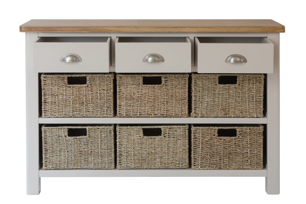 Cape Town 3 Drawer 6 Basket Unit