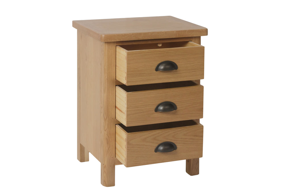 Melbourne 3 Drawer Bedside