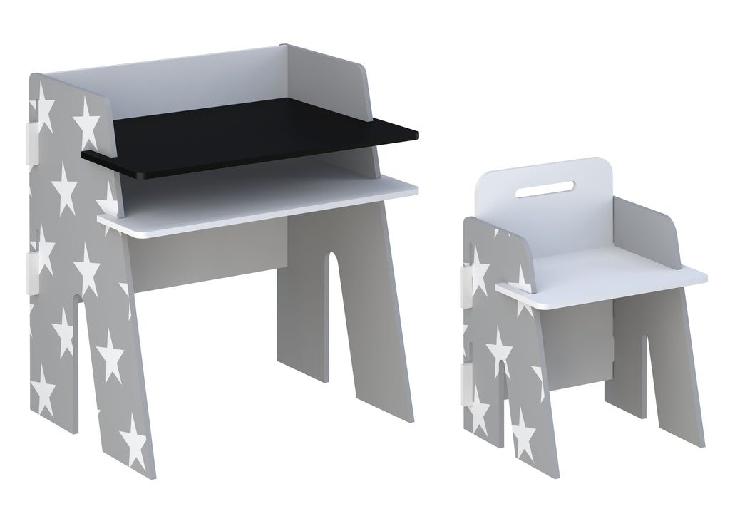 Star Desk & Chair Grey