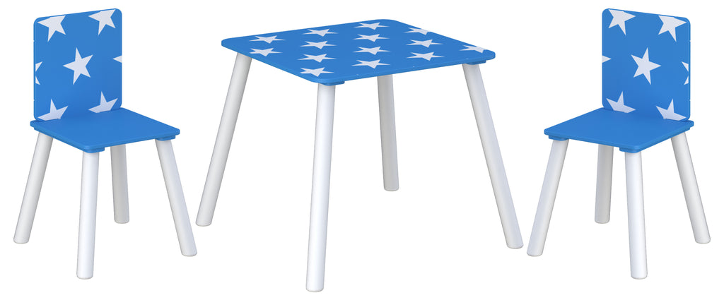 Star Table & Chairs Blue