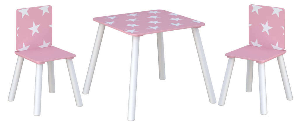 Star Table & Chairs Pink