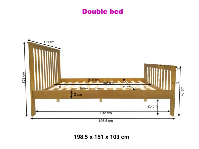 Howard Wooden Oak Finish Bed Frame