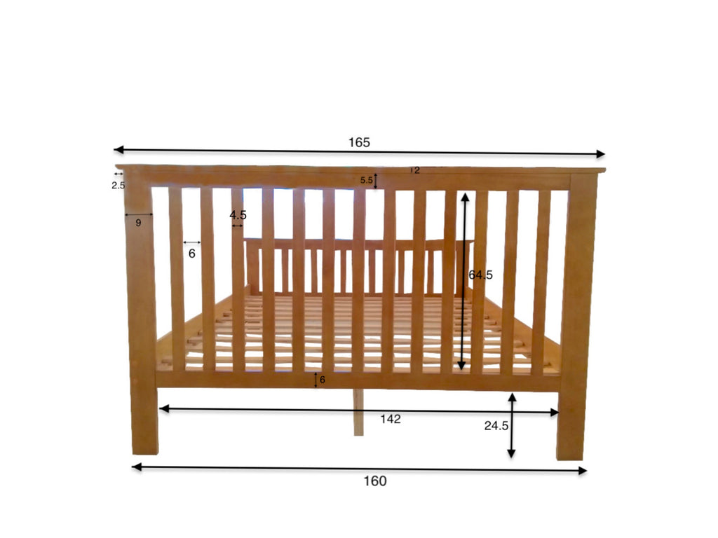Howard White Wooden Bed