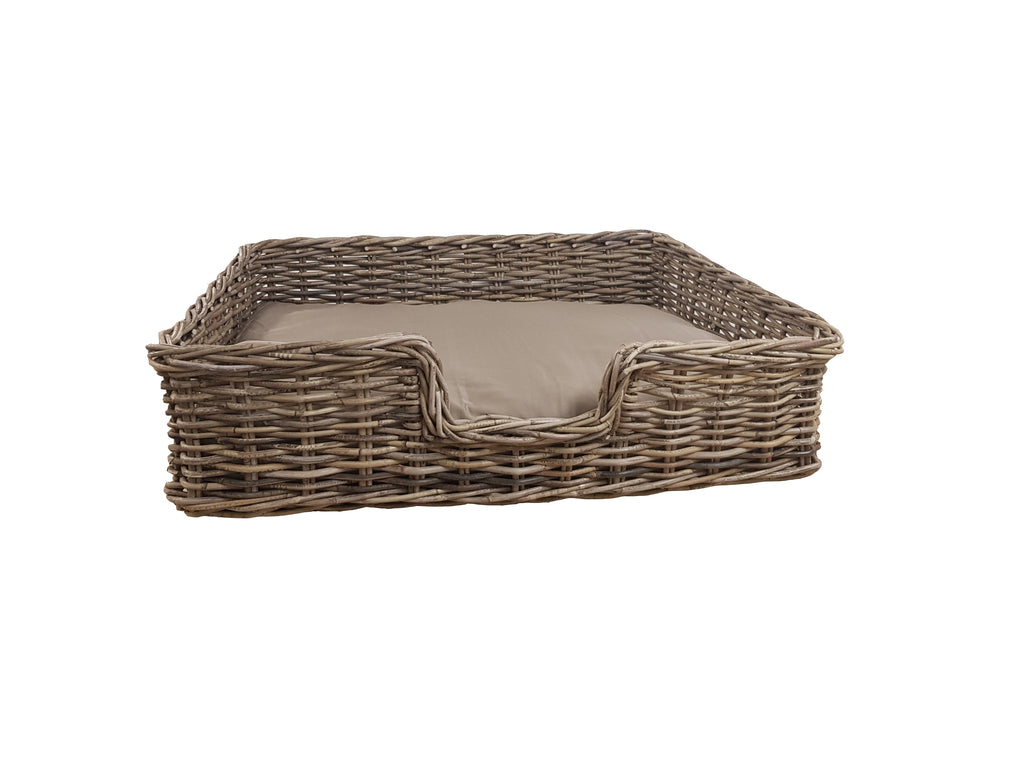 Kathmandu Rectangular Dog Basket with cushion