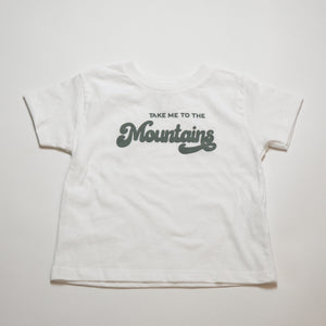 Open image in slideshow, take me to the mountains kids tee