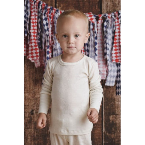 Merino and silk long sleeve T-shirt for kids