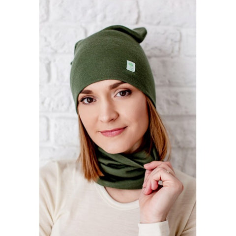 Merino wool beanie hat for women