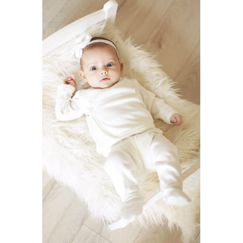 Merino wool premature baby pants with feet