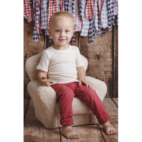 Merino and silk short sleeve T-shirt for kids