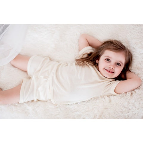merino and silk shorts pajama for kids