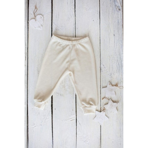 Merino and silk pants for babies