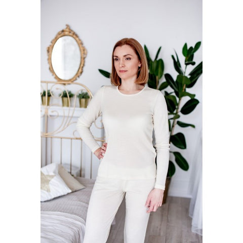 merino and silk women clothing set
