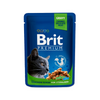 BRIT PREMIUM CAT POUCH WITH CHICKEN SLICES FOR STERILISED 100g