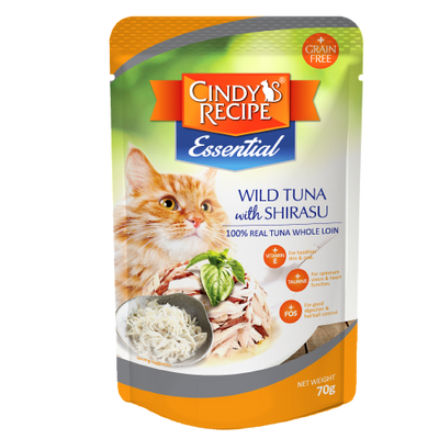 CINDY'S RECIPE ESSENTIAL CAT POUCH (MIXABLE 24 packets)
