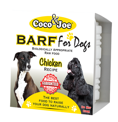 COCO & JOE BARF CHICKEN RECIPE RAW DOG FOOD ( PRE-ORDER ONLY )
