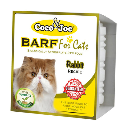 COCO & JOE BARF RABBIT RECIPE RAW CAT FOOD