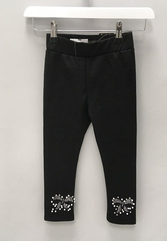 Black Pearl Bow Jeggings