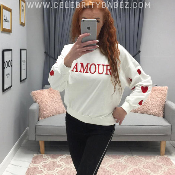 Amour Jumper In White