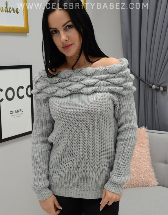 Bardo Knitted Jumper In Grey