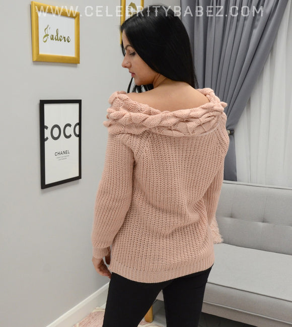 Bardo Knitted Jumper In Pink