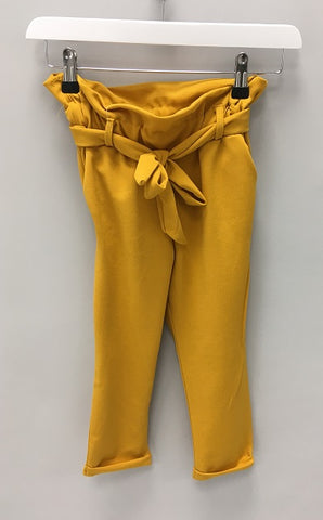 Mustard Paperbag Waist Trousers