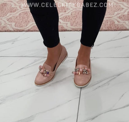 Pearl Front Loafer In Pink
