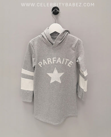 Parfait Logo Hoody In Grey