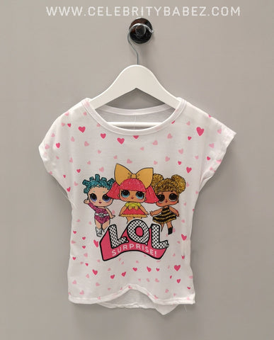 Cartoon LOL Surprise Top In White