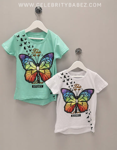LE Butterfly Top In Aqua