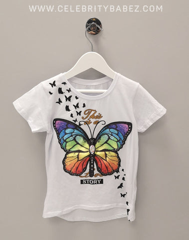 LED Butterfly Top In White
