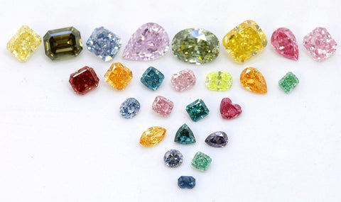 Cinebling Birthstone Blog April Array of Coloured Diamonds