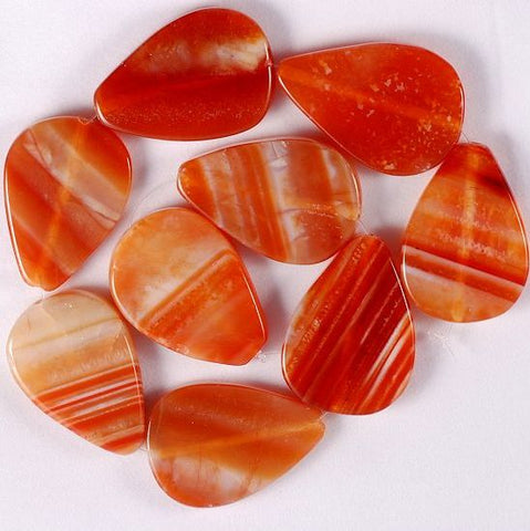 Cinebling Birthstone Blog Sardonyx Pear Shaped with Stripes