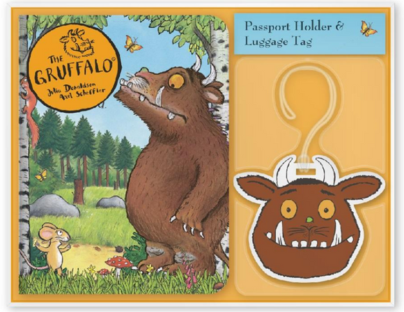 Gruffalo passport holder/cover and luggage tag set for children