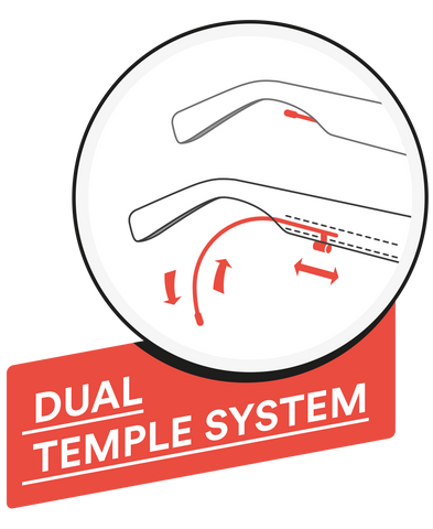 Red Bull Spect Dual Temple System
