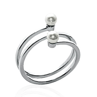 Pearls and Silver Ring - Fifi Ange