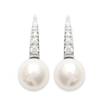 Delicate Curve Pearl Earrings - Fifi Ange