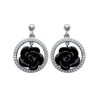Black Rose Earrings - Fifi Ange