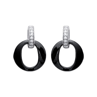 Black O Earrings - Fifi Ange