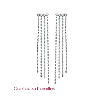 Silver Strands Earrings - Fifi Ange