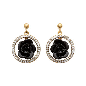 Black Rose6 Earrings - Fifi Ange