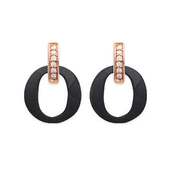 Black'n'Rose O Earrings - Fifi Ange