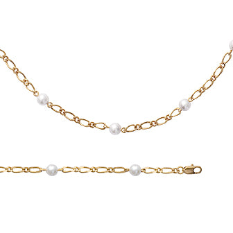 Pearl in Gold Loops Bracelet - Fifi Ange