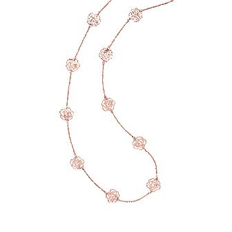 Flowers on a Chain Necklace - Fifi Ange