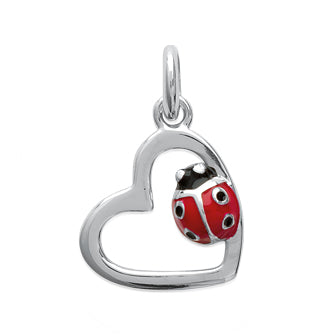 Ladybird in your Heart Pendant - Fifi Ange