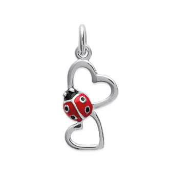 Ladybird and Hearts Pendant - Fifi Ange
