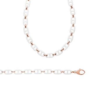 White and Rose Necklace - Fifi Ange